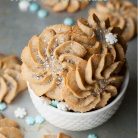 Frozen Inspired Paleo Spritz Cookie