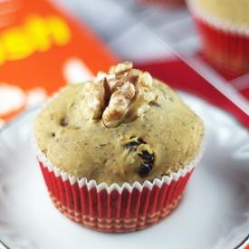 GF + Vegan Cranberry Walnut Muffins