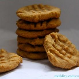 3 Ingredients Peanut Butter Cookies