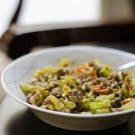 Mustard Celery Beef Saute
