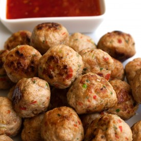 Thai Spiced Mini Chicken Meatballs