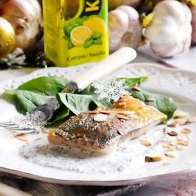 Carp with horseradish mousse