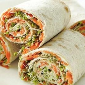Veggie Lavash Snack Rolls