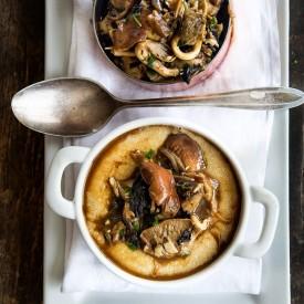 Mushrooms with Amaranth 'Polenta'