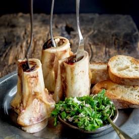 Roasted Bone Marrow & Parsley Salad