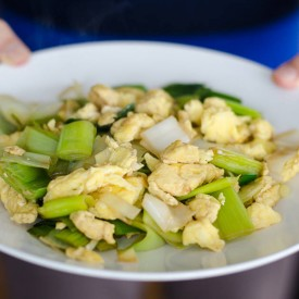 Egg and Leek Stir-Fry