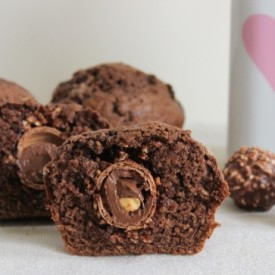 Ferrero Rocher Chocolate Muffins