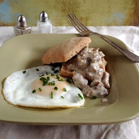 Whole-Grain Biscuits with Gravy