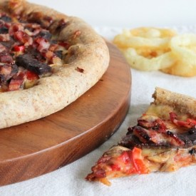 Steak and Bacon Pizza