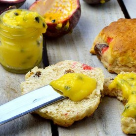 Passion Fruit Curd and Scones