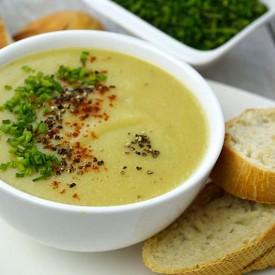 Skinny Cauliflower leek Potato Soup
