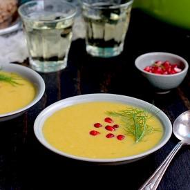 Coconut Butternut Fennel Leek Soup