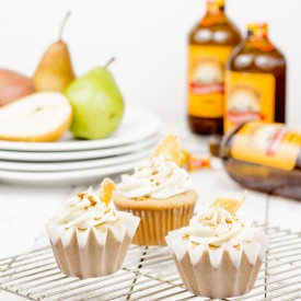Ginger Beer Cupcakes Pear Frosting
