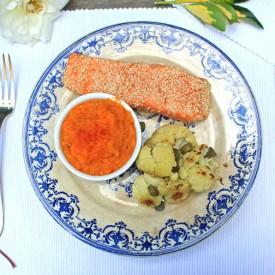 Sesame Roast Salmon & Sweet Potato