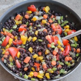 Vegetarian Black Beans and Rice