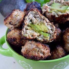Avocado stuffed meatballs