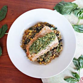 Salmon and quinoa salad