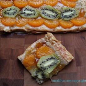 Tangerine and Kiwi Tart