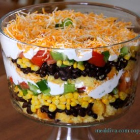 Bean & Cornbread Salad