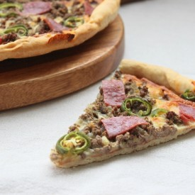 Beef, Chorizo, and Jalapeno Pizza