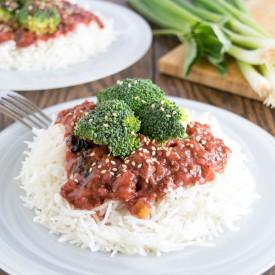 Broccoli in Strawberry Sauce