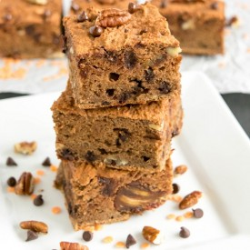Flourless Lentil Chocolate Brownies