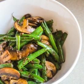 Asian Mushrooms and Green Beans