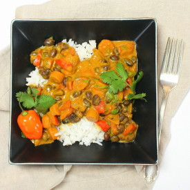 Vegan Jamaican Black Bean Curry