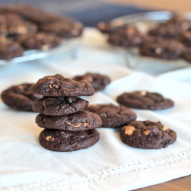 Chocolate & peanut butter cookies