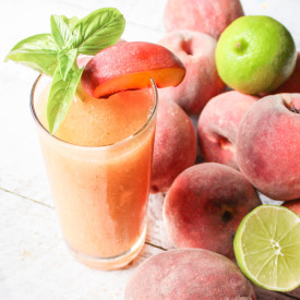 Frozen Peach Basil Daiquiri