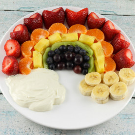 Rainbow Fruit Tray and Fruit Dip