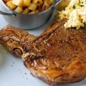 Best T Bone Steak with Hash Browns