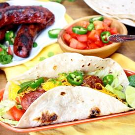 Bratwurst Tacos