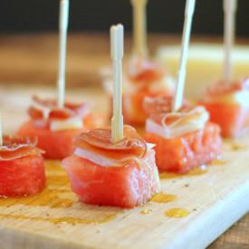 Watermelon & Prosciutto Skewers