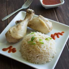 Rice Cooker Hainanese Chicken Rice