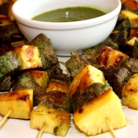 Beef Kebabs with Pineapple