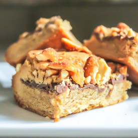Chewy Peanut Butter Cookie Bars