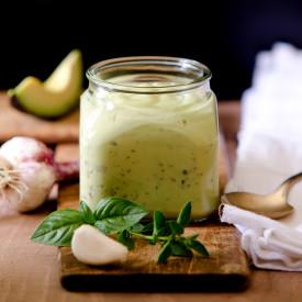 Basil Avocado Salad Dressing