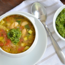 Provencal Vegetable Soup with Pesto