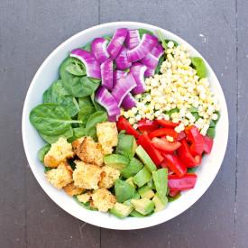 Southwest Salad Cornbread Crouton