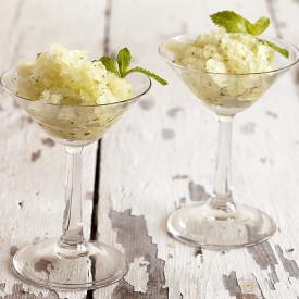Sugar-free minty melon granita