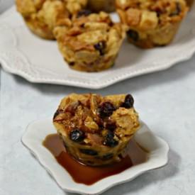 Bacon Bourbon Bread Pudding Muffins