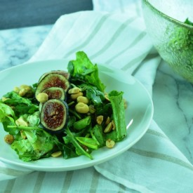 Arugula Salad with Figs and Peanuts