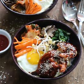 Crispy Shrimp Bibimbap Bowl
