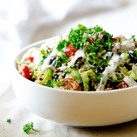 Easy Garden Veggie Quinoa Salad