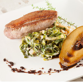 Pan Fried Duck Breast With Cabbage