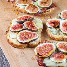 Figs, Bacon And Blue Cheese Grilled