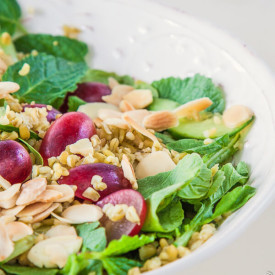 Grape, Almond and Mint Freekeh Salad