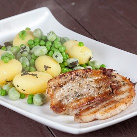Pork belly Slices And Broad Bean