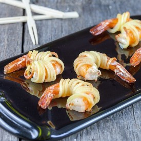 Scampi And Spiralized Potato